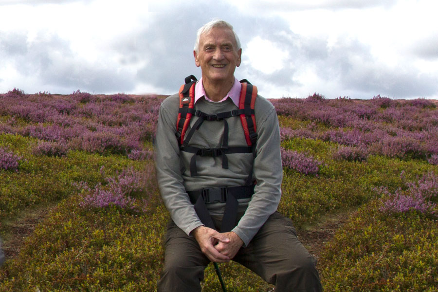 Bob on the North Yorkshire Moors above Danby, August 2014
