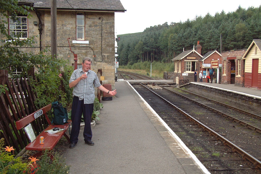 Brian waiting for a train at Levisham on the North York 
